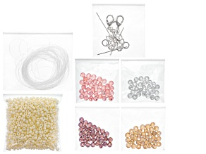 Jewelry Making Kit incl Materials For 3 Bracelets Or 1 Bracelet & 1 Necklace