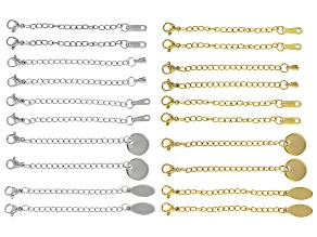 Chain Extender Clasp Kit 20 Pcs Total incl Gold Tone & Silver Tone Assorted Styles