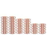 Magnetic Clasp Kit in Rose Tone, Gold Tone & Silver Tone 10pcs Each/30pcs Total in 4 Assorted Styles