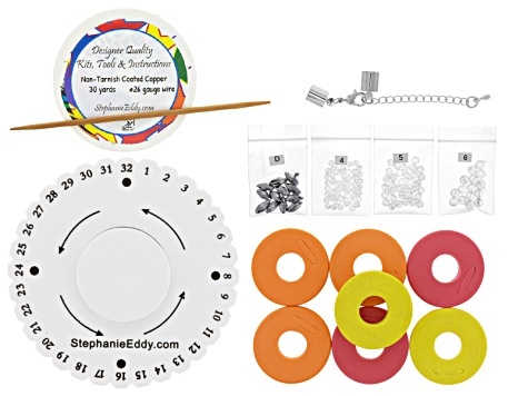 7-7 Merge Necklace Project And Supply Kit in Silver Color