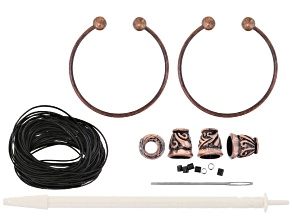Double Up Viking Knit Bracelet Supply Kit With Leather, Makes 2 Bracelets