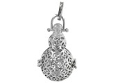 Diffuser Pendant Set of 6 Pieces In Assorted Styles In Silver Tone