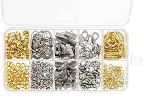 Assorted Findings Kit With Storage Box Contains Over 400 individual Pieces