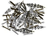 Metal Connector Set/80 Pcs incl 3 Styles in Antq Brass Tone & Antq Silver Tone