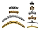 Pendant Bail & Accessory Kit In Antq Silver Tone & Antq Gold Tone Incl Assorted Styles 170pcs Total