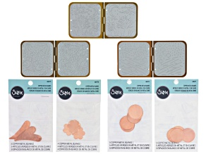 Sizzix DecoEmboss & metal blank bundle incl 3 embossing dies & metal blank styles