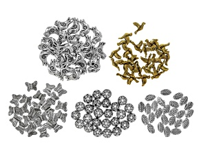Birds & butterflies assorted accessory kit incl 5 styles/25pcs each