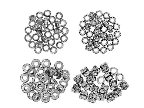 Black tone drop spacer beads x 50 app 6mm long