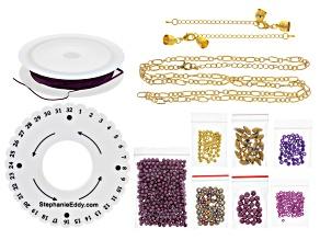 Pinkerton Plait 7-strand cord braiding necklace & bracelet supply & project kit in Fuchsia