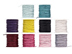 1 mm Wax Cord Spool Set of 10 in Assorted Colors appx 10 yards each