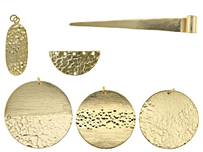 Finding Assortment in Gold Tone over Brass in 6 Styles