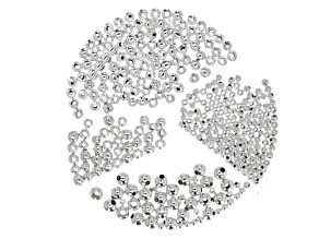 Spacer Beads in 4 sizes in Silver Tone appx 7.5-8 grams