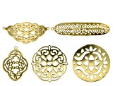 Focal Assortment Set of 5 in assorted styles in Gold Tone
