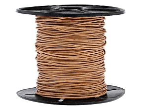 Round Leather Cord appx 1mm in Natural appx 50 Meters Spool