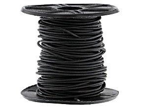 Round Leather Cord appx 1mm in Natural Black appx 10 Meter Spool