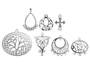 Designer Component Set of 7 Sterling Silver Focalsl