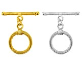 Designer Component Toggle Clasps in 20 Styles in Silver Tone & 14K Gold over Copper 40 Pieces total