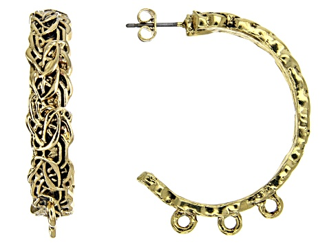 Byzantine Inspired Component Set in Antique Gold Tone 16 Pieces Total