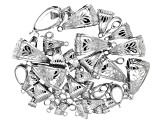 Designer Bail Set in Silver Tone in 5 Styles 55 Pieces Total