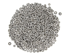 Daisy Spacer Beads appx 4-6.5mm in Antique Silver Tone includes appx 1,000 pieces