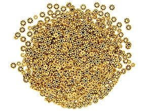 Daisy Spacer Beads appx 4-6.5mm in Antique Gold Tone includes appx 1,000 pieces