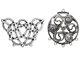 Celtic Inspired Pendant Set in 4 Styles in Antique Silver & Gold Tone 8 Pieces Total