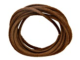 Stitched Round Leather Cord 2.5mm in Nappa & Suede Set of 4 6M Total