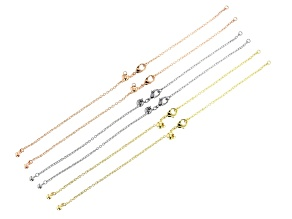 Sliding Adjustable Bracelet Clasp Connector Set of 6 in Silver, Gold, and Rose Tones Up To 7