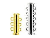 Multi-Strand Magnetic Clasp Connector Set of 12 Pieces in Gold Tone and Silver Tone