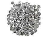 Fancy Spacer Bead Set in 5 Styles in Antiqued Silver Tone 100 Pieces Total