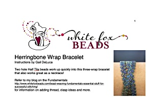 Tutorial for Herringbone Wrap Bracelet with Cymbals by Gail Deluca