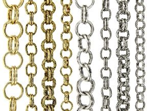 Unfinished Chain in 8 Styles in Antiqued Silver & Gold Tone appx 30