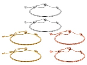 Bolo-style Bracelet Foundation Kit with Screw Connectors in Silver Tone, Gold Tone, & Rose Tone