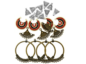 Moroccan Inspired Component Set in 3 Tones 22 Pieces Total