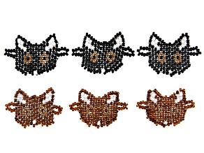 Cat Connector Set of 6 in Brown & Black