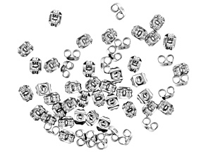 Stainless Steel Appx 5x3mm Earring Clutch Appx 50 Pieces
