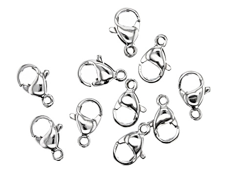 Stainless Steel Appx 10x6mm Lobster Style Clasp Appx 10 Pieces
