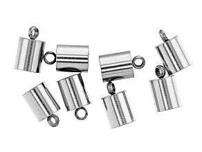 Stainless Steel Appx 10x5mm End Caps Appx 8 Pieces