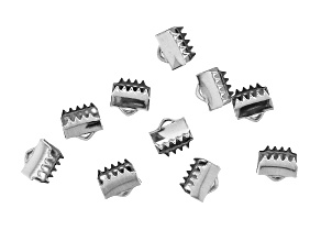 Stainless Steel Appx 6mm Ribbon End Crimps Appx 10 Pieces