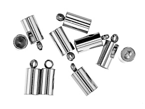Stainless Steel Appx 8x4mm End Caps Appx 10 Pieces