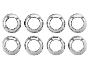 Stainless Steel Appx 11x5mm Donut Shaped Spacer Bead Appx 8 Pieces