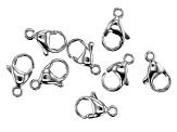 Stainless Steel Appx 13x8mm Lobster Style Clasps Appx 8 Pieces