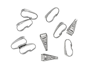 Stainless Steel Appx 9mm Pinch Bail Findings Appx 10 Pieces