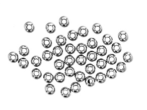 Stainless Steel Appx 4mm Round Spacer Beads Appx 40 Pieces
