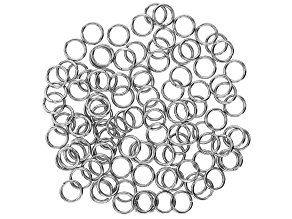 Stainless Steel Appx 6mm Jump Rings Appx 100 Pieces