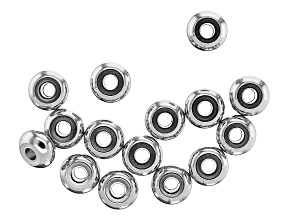Stainless Steel Appx 8x4mm Donut Shaped Spacer Beads Appx 15 Pieces