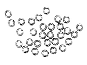 Stainless Steel Appx 5mm Round Spacer Beads Appx 30 Pieces