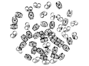 Stainless Steel Appx 6x4mm Earring Clutch Appx 50 Pieces