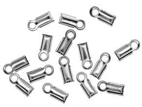 Stainless Steel Appx 9mm Folding Crimp Ends Appx 15 Pieces
