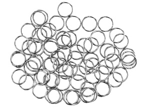 Stainless Steel Appx 10mm Jump Rings Appx 75 Pieces